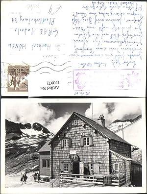 150972,Reisseck Hütte Ansicht m. Personen Mühldorf Kolbnitz