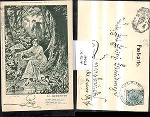 176249,Künstler AK sign. A. Zick fec. Gedicht