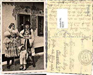 90279,Moravske kroje Tschechische Tracht Prerau Dienstpost Böhmen