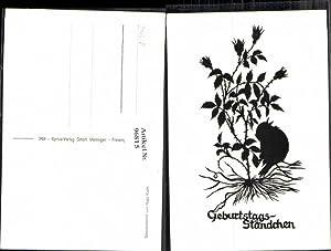 96815,Scherenschnitt Silhouette Hugo Kocher Meitingen Augsburg Vogel