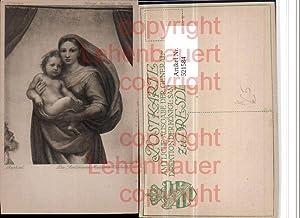 521584,Künstler AK Raphael Die Sixtinische Madonna Heilige