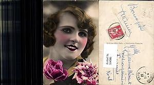 554386,tolle Foto-AK Frau Mode Portrait Art French