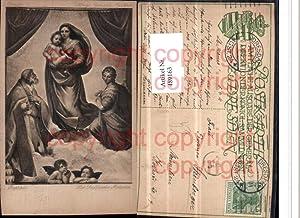 489163,Künstler AK Raphael Die Sixtinische Madonna Engel
