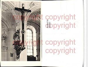 502487,Foto AK Kirche Innenansicht Kruzifix Kreuz