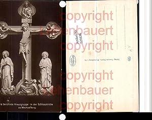 521636,Wechselburg Schlosskirche Kreuzgruppe Kreuz Kruzifix