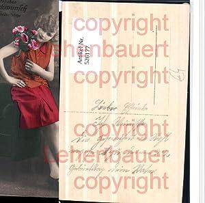 526177,Foto-AK Frau Art Deco Mode Rock Blumen