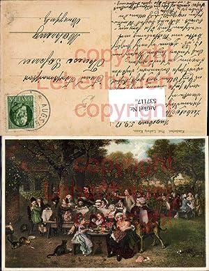 537117,Künstler AK Ludwig Knaus Schäferhund Hund Schäfer