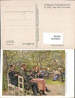 562749,Künstler Ak Josef Engelhart Männer musizieren Geige