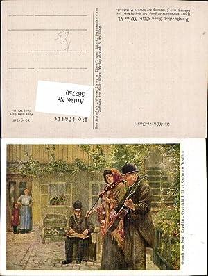 562750,Künstler Ak Josef Engelhart Frau Geige Mann