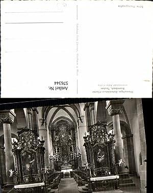 576344,Foto Ak Bronnbach Tauber Innenansicht Kloster Reicholzheim