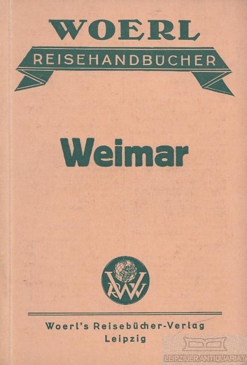 Karte Weimar Und Umgebung.Illustrierter Fuhrer Durch Weimar Und