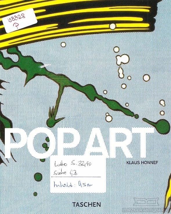 Pop art. - Honnef, Klaus (Text in Portugiesisch).