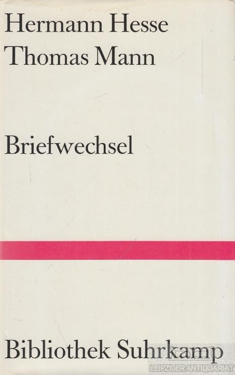 Briefwechsel.: Hesse, Hermann /