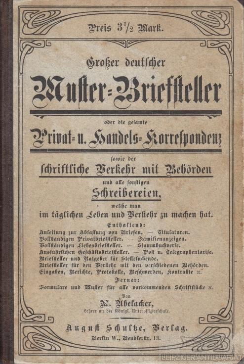 Deutsche Handels Korrespondenz Zvab