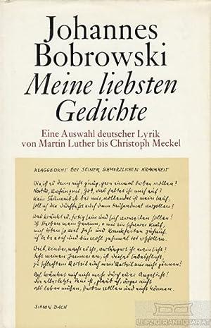 Johannes Bobrowski Meine Liebsten Gedichte Zvab