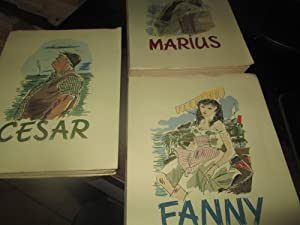César. Fanny. Marius. (3 Volumes, (Aquarelles De Gaston Barret)