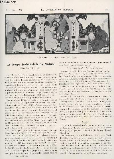 La construction moderne 41 annee fascicule n 41 11 juillet 1926 le groupe scolaire de la for Loi sur les constructions