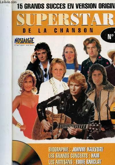 eac40aee47be27 SUPERSTARS DE LA CHANSON - 10 NUMEROS DU N°1 AU N°10 / COLLECTION ...