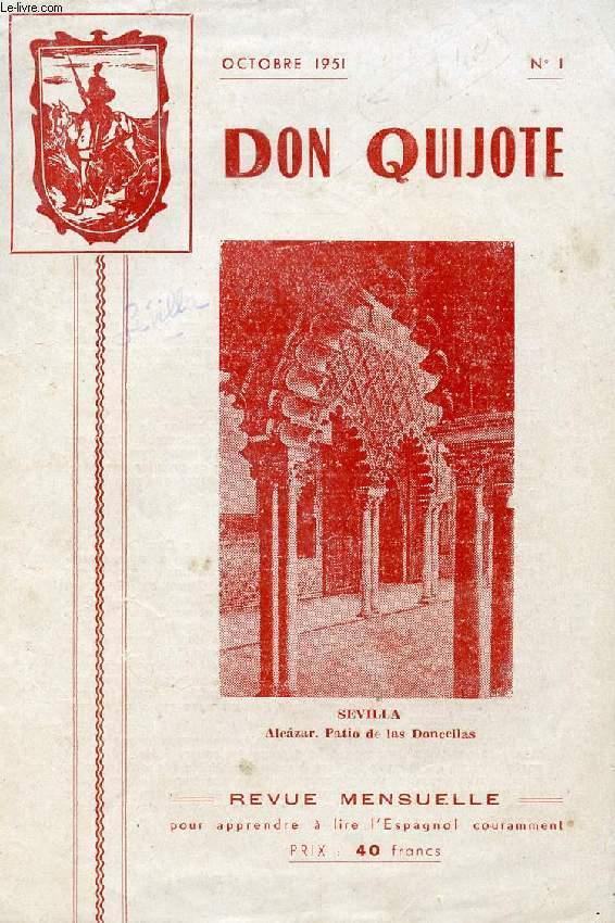 don quijote revue mensuelle pour apprendre a lire l 39 espagnol couramment n 1 oct 1951