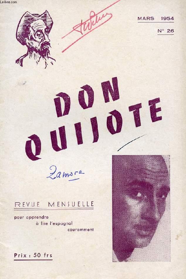 don quijote revue mensuelle pour apprendre a lire l 39 espagnol couramment n 26 mars 1954
