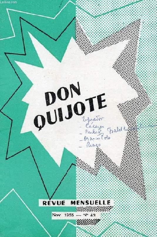 don quijote revue mensuelle pour apprendre a lire l 39 espagnol couramment n 43 nov 1955