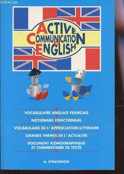 Active Communication In English Vocabulaire Anglais