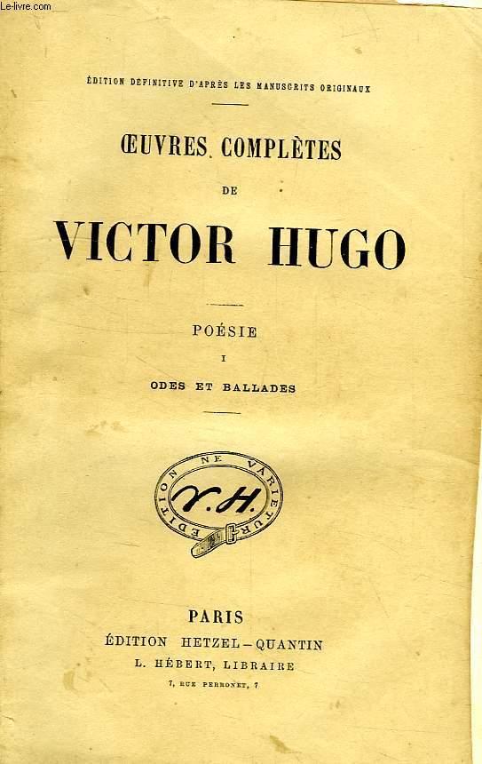 Oeuvres Completes De Victor Hugo Poesie