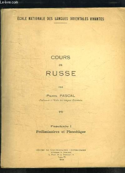 Cours de russe - Par Pierre Pascal