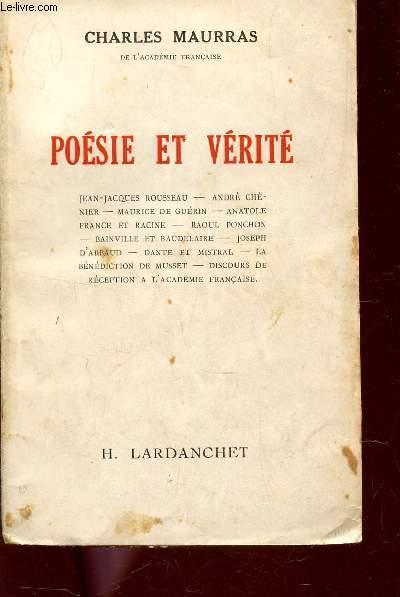 Poesie Et Verite Jean Jacques Rousseau