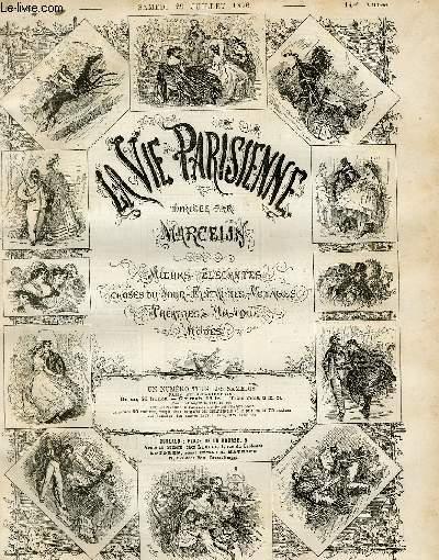 LA VIE PARISIENNE 14e année - N° 31 - A BON CHAT, BON RAT, de A. - CONSEILS PRATIQUES, de R. - A LA CAMPAGNE, LA SALLE DE BILLARD. COLLECTIF Near Fin