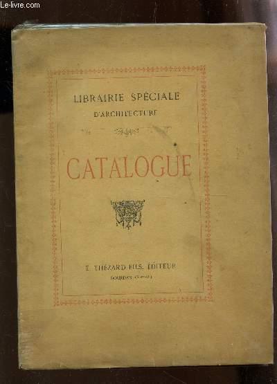 catalogue librairie speciale d 39 architecture par collectif thezard emile et fils couverture. Black Bedroom Furniture Sets. Home Design Ideas