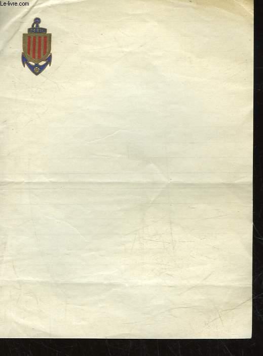 Papier A Lettre Vierge Blason 24 Ric