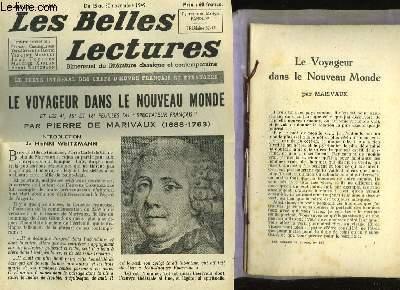 Le Voyageur Dans Le Nouveau Monde Les Belles Lectures 4 Annee N 145 Par Marivaux Bon Couverture Souple 1949 Le Livre