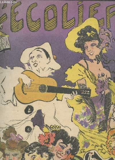 L'ECOLIER - ANNEE 1906 / Dentelles et Haillons / Snobinette / Snob / Le livre / La légende du vent / Ballade d'automne / Au café de Bordeaux / Le coeur et la main / Axiomes universitaires / Rabelaisiade / Les rossignols des salons / Poetes !! / etc.
