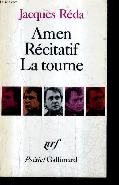 AMEN RECITATIF LA TOUNE / COLLECTION POESIE . - REDA JACQUES