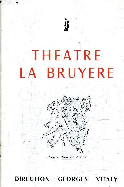 theatre la bruyere direction georges vitaly by. Black Bedroom Furniture Sets. Home Design Ideas