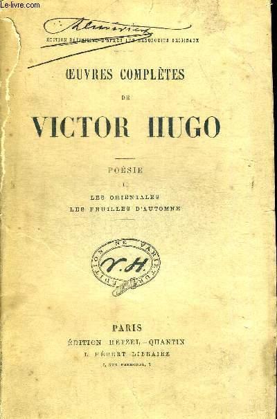 Oeuvres Completes De Victor Hugo Poesie Ii