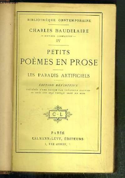 Petits Poemes En Prose Les Paradis