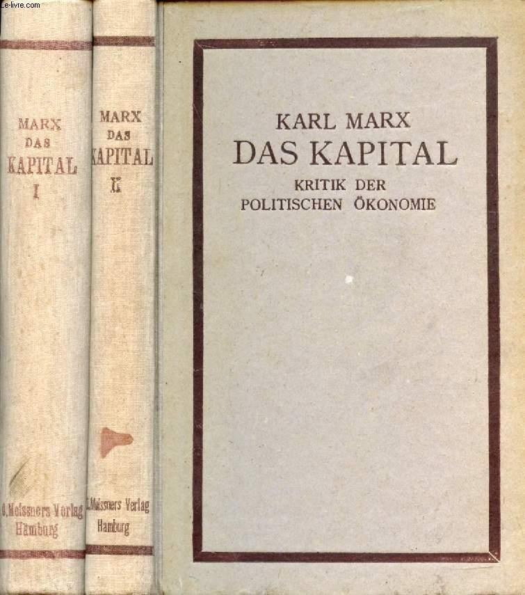 Das Kapital Kritik Der Politischen Oekonomie 2 Bänden By Marx