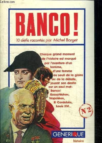 BANCO ! N°2 - BORGET MICHEL