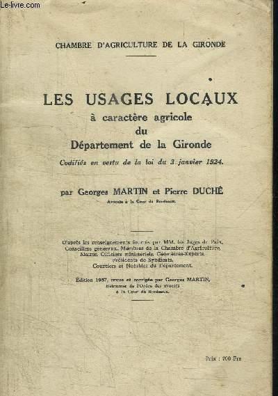 Les usages locaux a caractere agricole du departement de - Chambre agriculture gironde ...