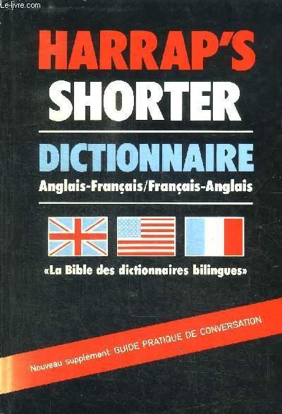 Harrap S Shorter Dictionnaire Anglais