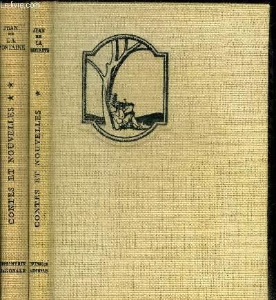 CONTES ET NOUVELLES EN 2 VOLUMES / COLLECTION NATIONALE DES GRANDS AUTEURS DE LA FONTAINE JEAN Near Fine Hardcover