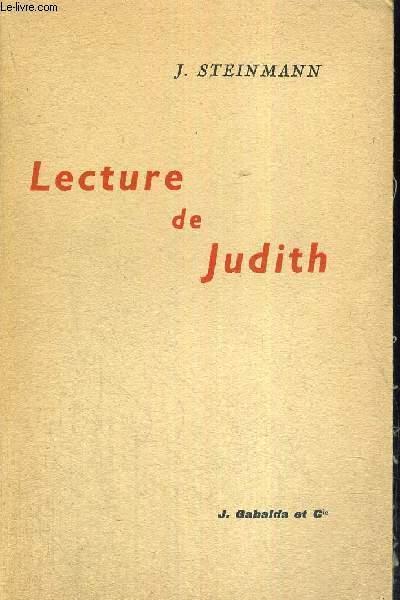 LECTURE DE JUDITH STEINMANN JEAN Near Fine Softcover