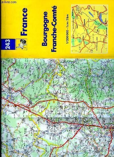 Carte Bourgogne Michelin.Carte Michelin N 243