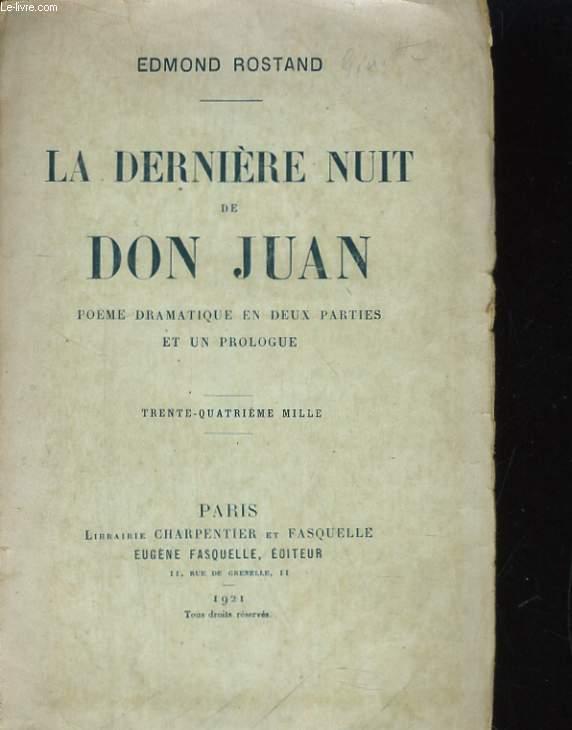 La Derniere Nuit De Don Juan Poeme
