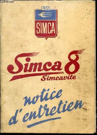 simca 8 simcavite notice d 39 entretien by societe. Black Bedroom Furniture Sets. Home Design Ideas