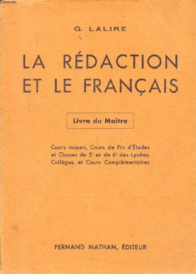 La Redaction Et Le Francais Livre Du Maitre