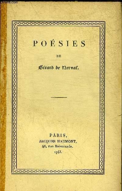 POESIES. DE NERVAL GERARD [Near Fine] [Softcover] (bi_22758868298) photo