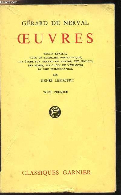 OEUVRES - DE NERVAL GERARD [Near Fine] [Softcover] (bi_30011516958) photo